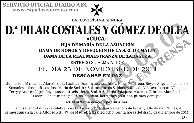 Pilar Costales y Gómez de Olea